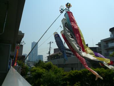 五月の空に泳ぐ鯉のぼり