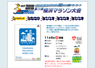 横浜マラソン大会